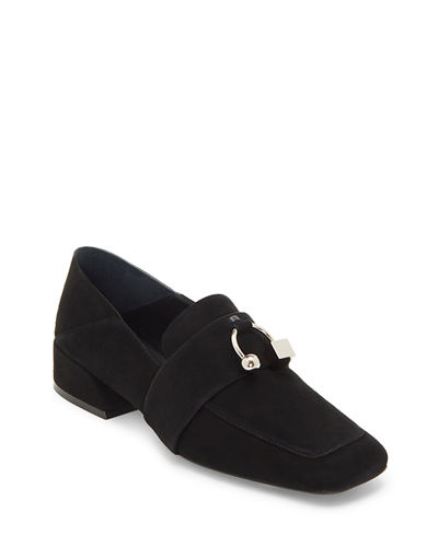 Freya Suede Flat Loafers