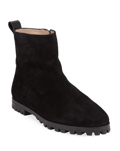Riley Suede Side-Zip Booties