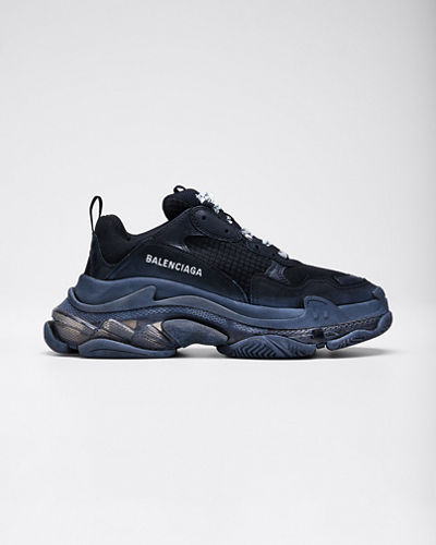 Triple S Air Nylon Sneakers with Logo  Noir