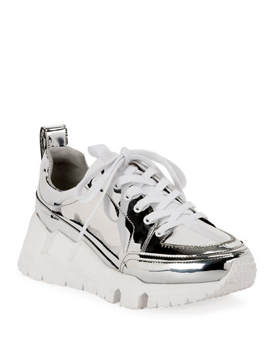 Street Life Leather Platform Sneakers