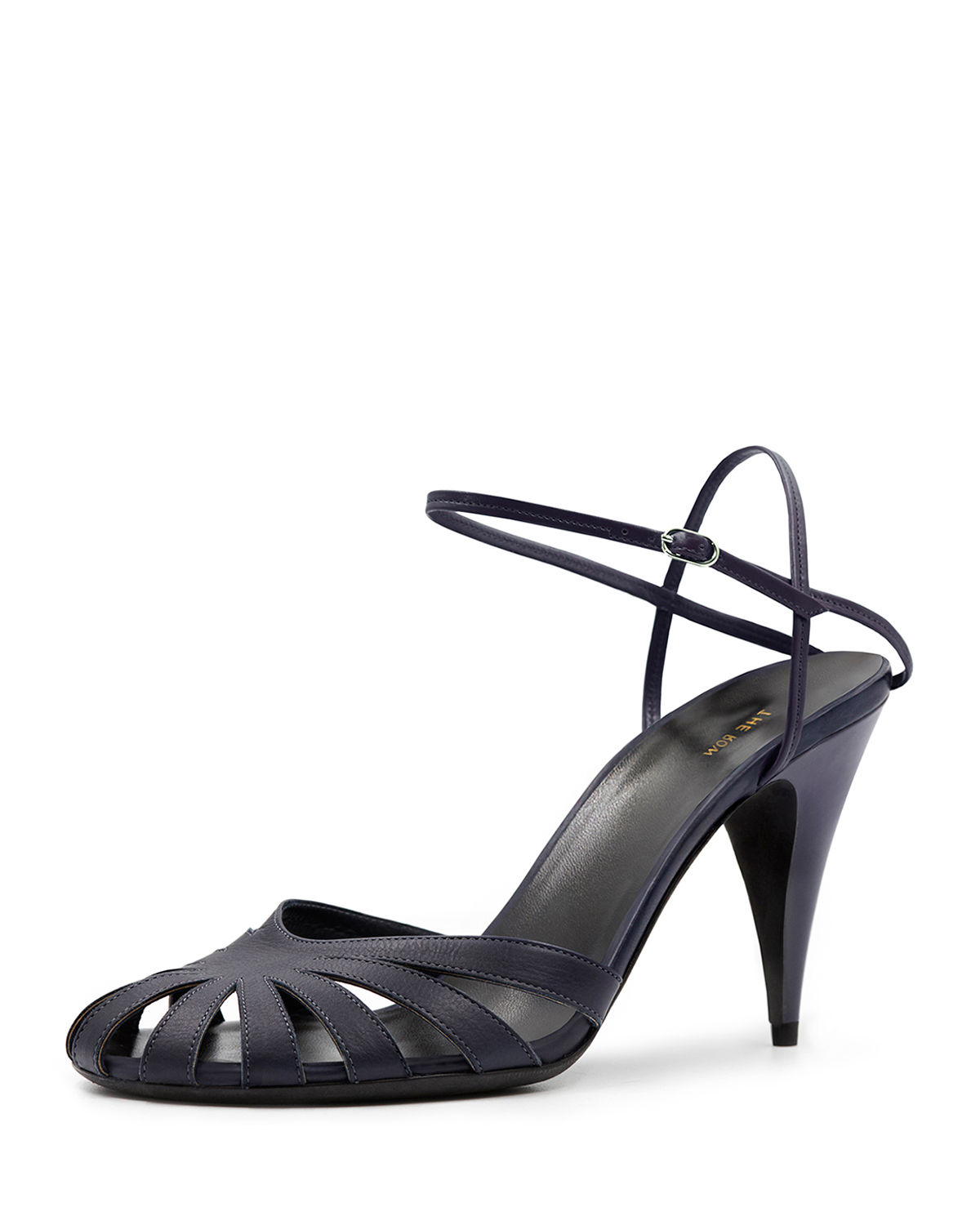 The Row TANGO CUTOUT LEATHER SANDALS
