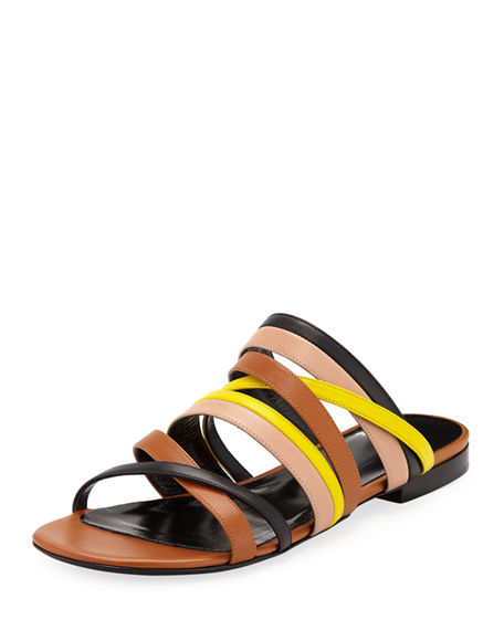 Pierre Hardy ALPHA MULTI-STRAP FLAT SANDALS