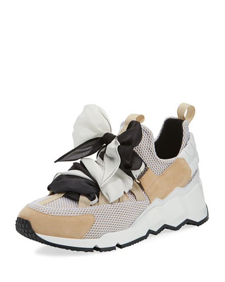 Pierre Hardy TREK CHUNKY BOW SNEAKERS