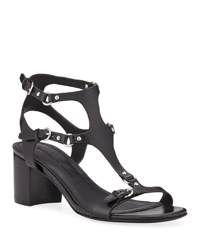 e50367492902 Designer Heel Sandals   Block Heel   T-Strap Sandals at Bergdorf Goodman