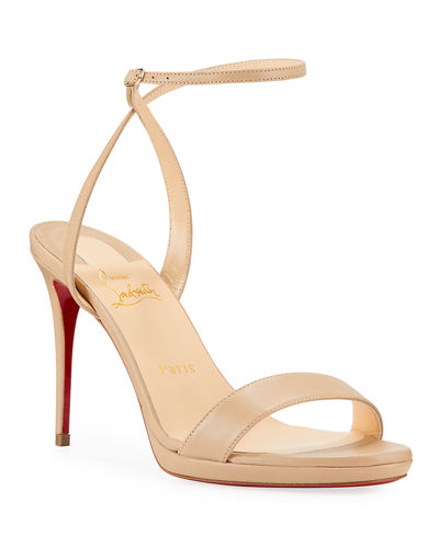 4faa9e32ecb Loubi Queen Red Sole Ankle-Wrap Sandals