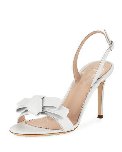 Bow Leather Strappy Sandals