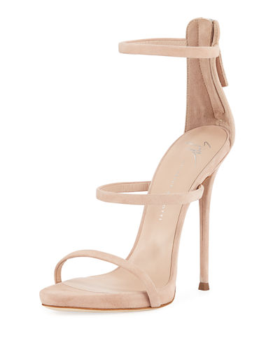 ab88ba67c6e438 Suede Three-Strap 110mm Sandals Quick Look. BEIGE  BLACK. Giuseppe Zanotti