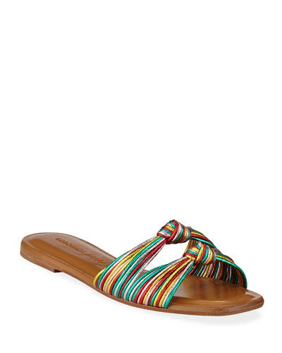 970c1cd82 Gemma Knotted Metallic Flat Sandals Quick Look. RAINBOW  GOLD