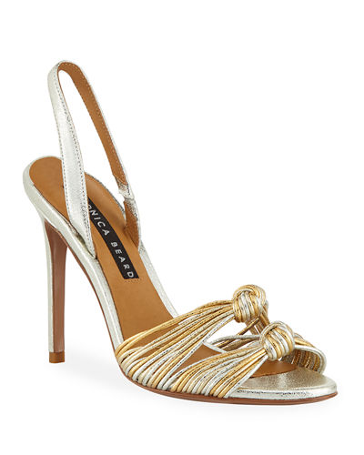 Alessia Metallic Knot Sandals