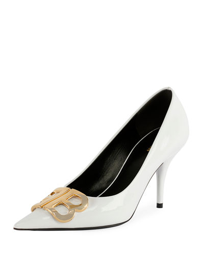 BB Logo Leather Pumps