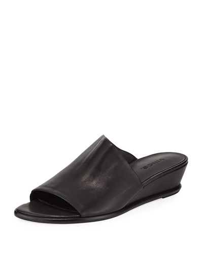 Duvall Leather Wedge Sandals