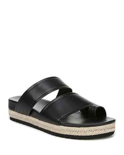 Floyd Leather Flat Sandals