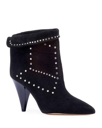 1d43f8184107 Lisbo Studded Suede Booties Quick Look. BLACK  BEIGE. Isabel Marant