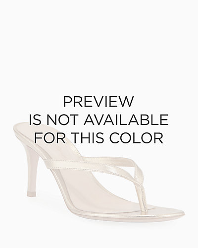 ce6ca514887c Metallic Leather Mid-Heel Thong Sandals Quick Look. GOLD  SILVER. Gianvito  Rossi