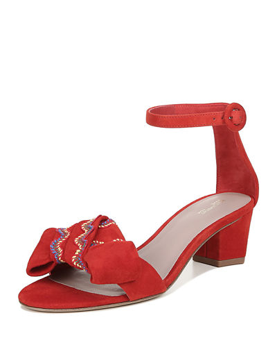 Jo Suede Ankle-Strap Sandals
