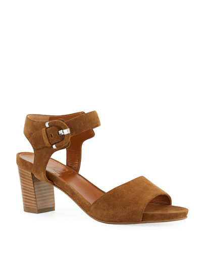 Brenna Suede Ankle Sandals
