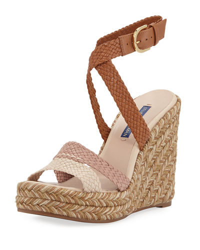 Elsie Tricolor Espadrille Wedge Sandals