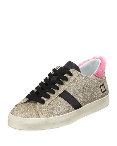 Hill Low-Top Glitter Sneakers