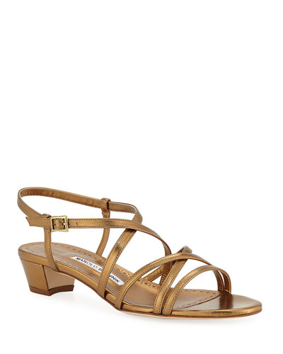 d6837cf1fa2e6 Designer Heel Sandals   Block Heel   T-Strap Sandals at Bergdorf Goodman
