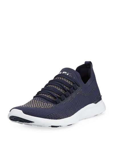 Techloom Breeze Metallic Knit Mesh Running Sneakers