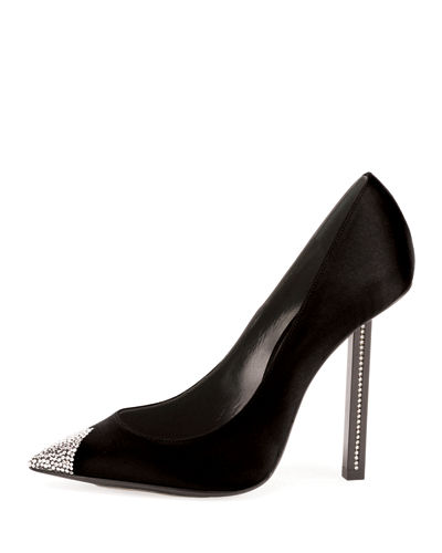 Tower Crystal Cap-Toe Pump