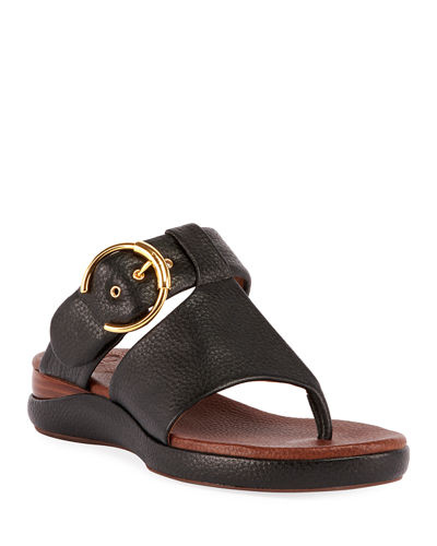 Chloe Wave Calf Leather Sandals