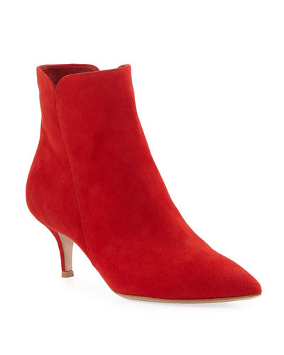 Suede Pointed-Toe Bootie