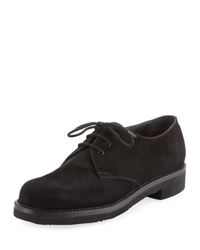 Lace-Up Suede Oxford