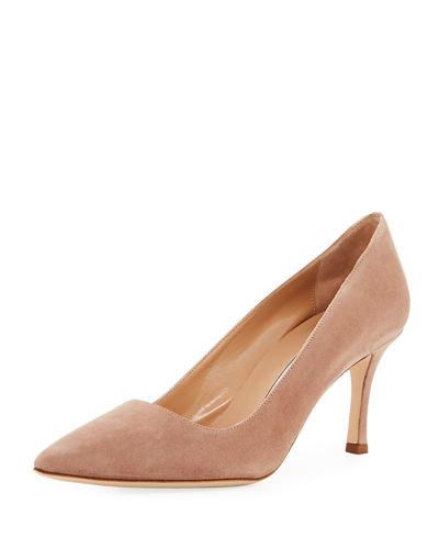 BB Suede 70mm Pumps