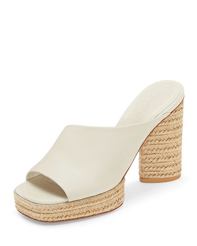 Rocio Suede Braided-Platform Sandals