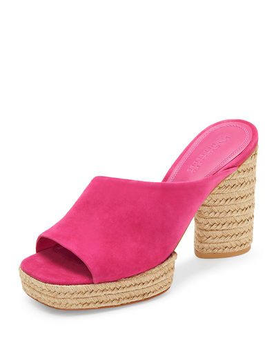 Mercedes Castillo Rocio Suede Braided-Platform Sandals