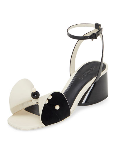 Mercedes Castillo Tila Leather Bow Sandals