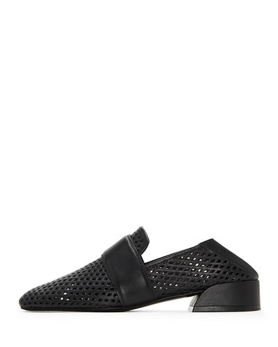 Mati Perforated Flat Loafers