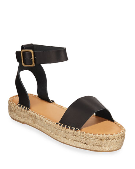 Soludos CADIZ LEATHER PLATFORM SANDALS
