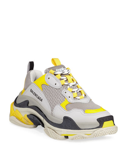 Triple S Fluo Mesh Trainer Sneakers