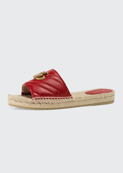 d174adc21 Gucci Italian Shoes. Pilar Espadrille Slide Sandals