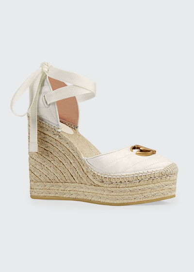 f05952a32e8 Palmyra Leather Platform Espadrille Wedges Quick Look. Gucci