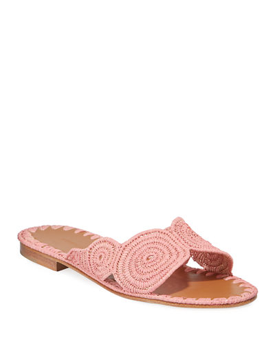 Salon Miste Raffia Slide Sandals