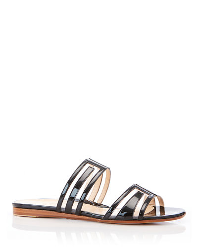 Jojo Geometric Patent Leather Sandals