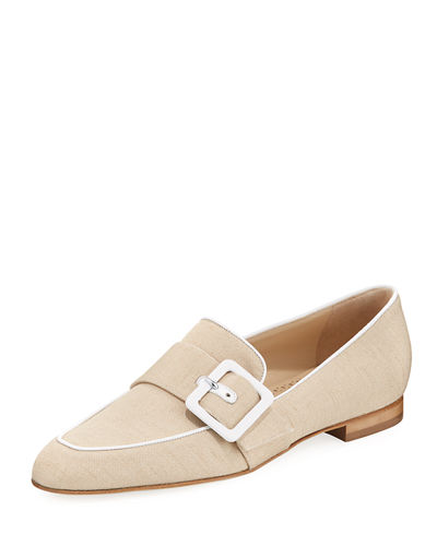 Teno Flat Loafer with Buckle Strap
