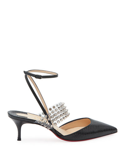 Levita Strappy Spiked Red Sole Pumps
