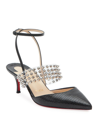7e8b4e5340d4 Levita Strappy Spiked Red Sole Pumps Quick Look. BLACK  WHITE. Christian  Louboutin