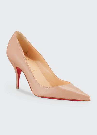 75ef963a4683 Clare 80 Leather Red Sole Pumps Quick Look. NUDE  BLACK. Christian Louboutin