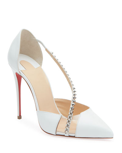 Spike Cross Red Sole Pumps