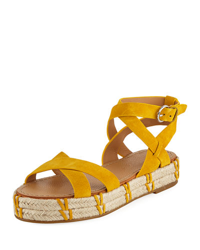 Jacky Ankle-Wrap Platform Sandals
