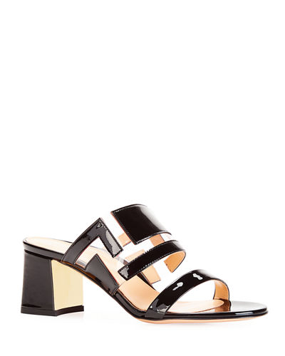 Bailey Geometric PVC Slide Sandals
