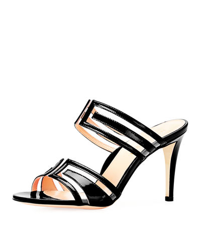 Larkin Geometric PVC Slide Sandals