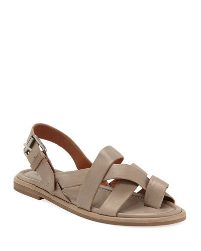 Tait Strappy Leather Flat Sandals