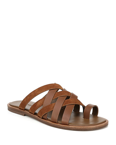 Piers Leather Crisscross Sandals
