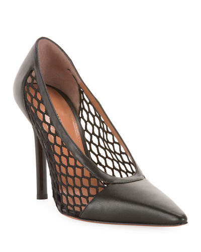 Peppino Fishnet Pointed Pumps